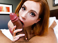Pepper Hart is an exquisitely steamy redheaded gal who looks awesome in a wonderful tiny dress. Pepper wants to break into porno in a hefty way so she found us all the way from Oregon. She flashes her superb body and then gets to blowing jizz-shotgun - fa