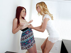 Lovely youthful pampered brat chick Love buttons gets her vagina toyed by her schoolteacher Alexa for her to pay attention cautiously on her intimate lessons.