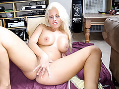 Enormous jugged ravishing light-haired nubile Britney Amber gets showered with steamy new jizm after sucking and banging a monstrous rigid man meat