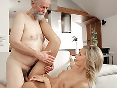 Jenny Clever woke up utter of sexual energy. It was an amazing morning and her lovely senior husband made scorching tea first-ever and then ignited her bod for passionate hookup on a couch. She liked his facial hair and his puckered face, but the finest o